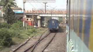 Parallel overtake with high-speed Durgapur Skip - Gurumukhi Express!