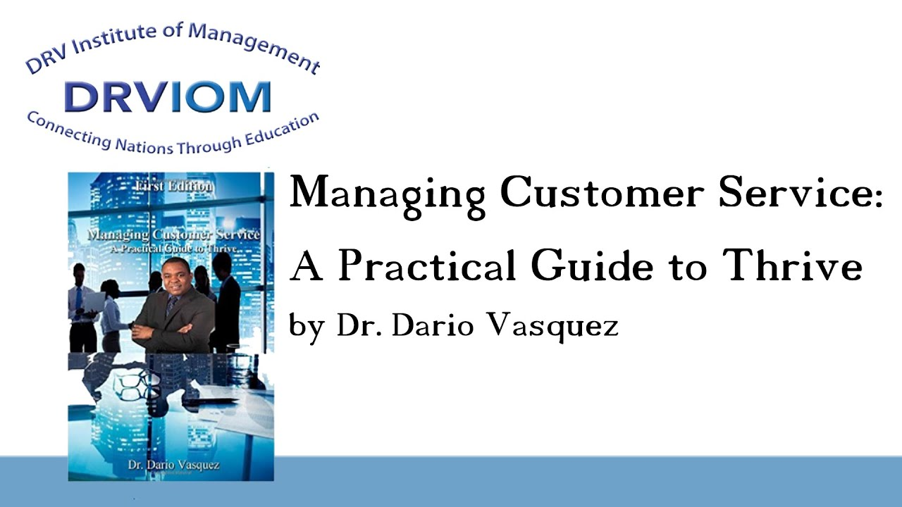 managing customer service This facilitated course will present the case for the value of customer service excellence within your organisation and offers practical tools to raise standards of service.