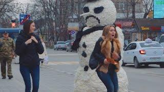Страшный Снеговик Пранк