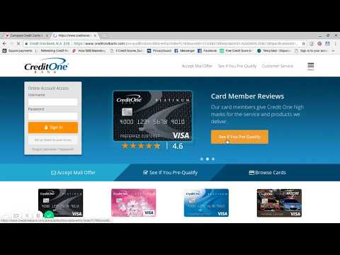 How to Apply for Credit One Bank Credit Card