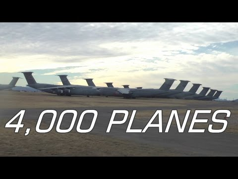 Largest Aircraft Boneyard in the World: 4,000 PLANES