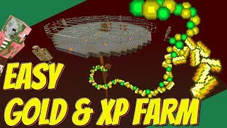 Easy Gold Farm: How to make a Gold Farm in Minecraft: Minecraft XP Farm - LOTS of XP (Avomance)