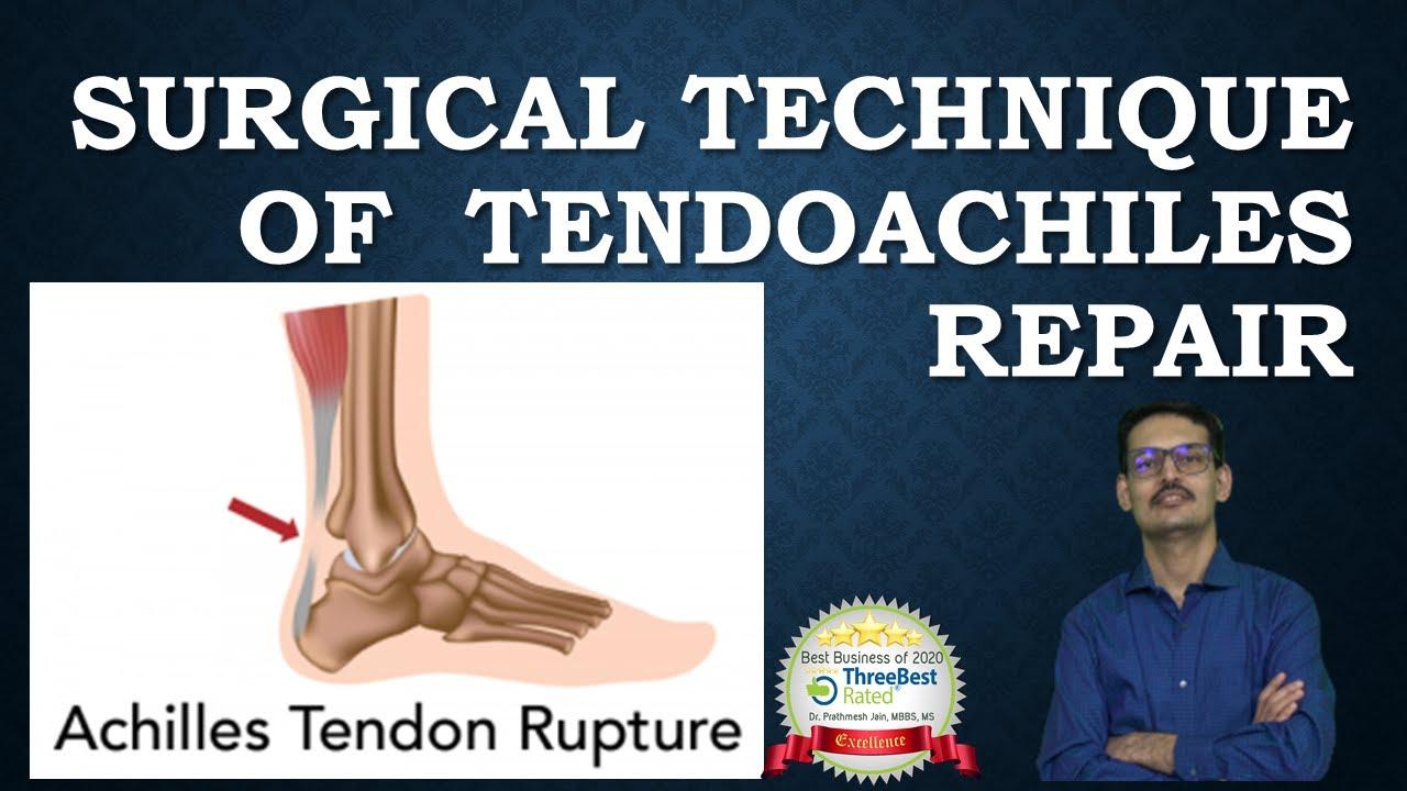 Insertional TendoAchilles Tear : Surgical Repair (For Orthopedic Surgeons)