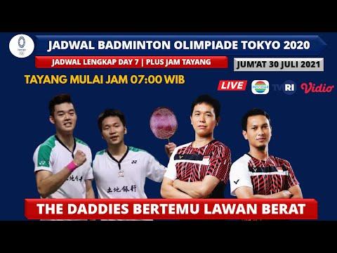 JADWAL BADMINTON OLIMPIADE TOKYO 2021 HARI INI DAY7 ...