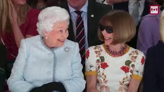 Queen Elizabeth visits London Fashion Week