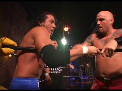 Wolfie D vs Rick Santel w Paul Adams time All Star Wrestling