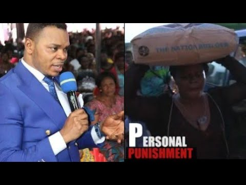 SHOCKING-ANGEL OBINIM PUNISHED WOMAN,ASKED HER TO CARRY A BAG OF CEMENT  FOR TWO HOURS