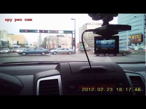 quality comparison test - DVR dash cam vs spy pen cam