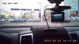 quality comparison test - DVR dash cam vs spy pen cam