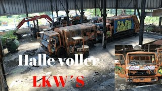 Lost Places & Bunker: Halle voller LKW´S l l Entsorgungsbetrieb