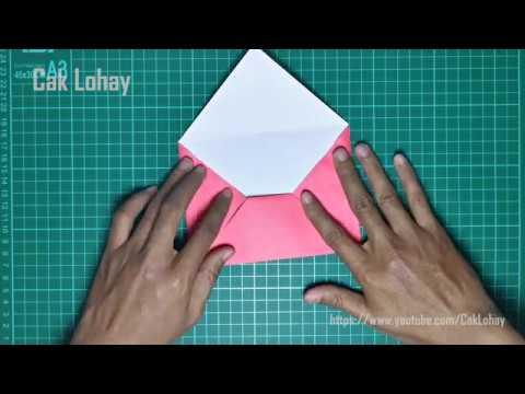 Origami Amplop: Cara Membuat Amplop dari Kertas Origami Mudah Banget