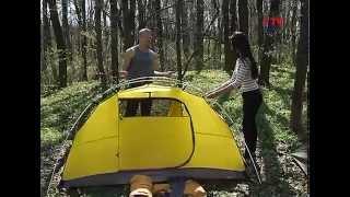 Как правильно поставить современную палатку