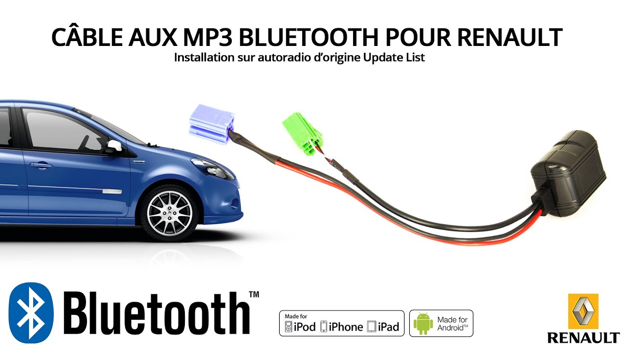 tuto comment envoyer de l 39 audio en bluetooth sur un autoradio renault update list youtube. Black Bedroom Furniture Sets. Home Design Ideas