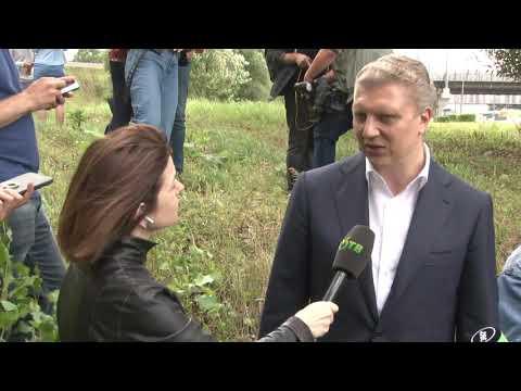 Глава округа посетил с инспекцией Немчиновский пруд.