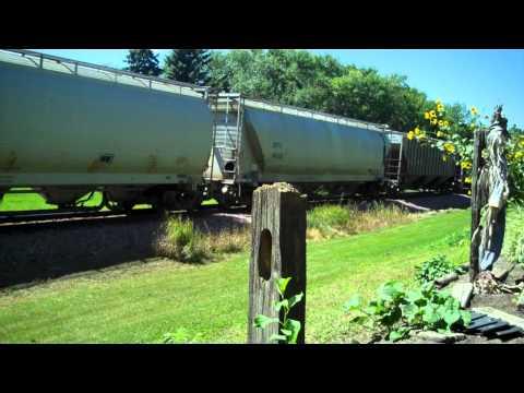 RCPE Eastbound grain train. Brookings, South Dakota