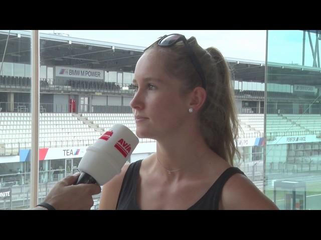 Biathletin Gina Puderbach bei 24h Rad am Ring am Nüburgring
