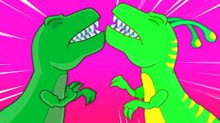 Groovy Le Martien se transforme en dinosaure t-rex pour sauver un œuf de dinosaure en danger!