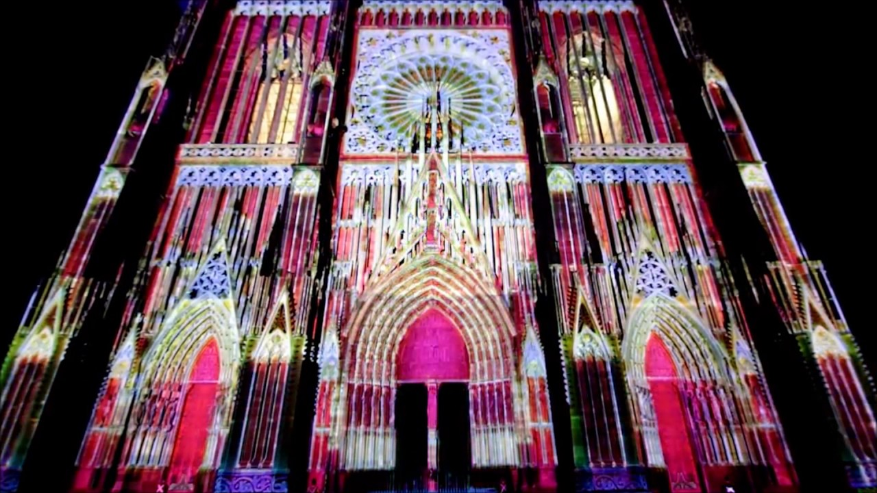 illumination cath drale de strasbourg youtube. Black Bedroom Furniture Sets. Home Design Ideas