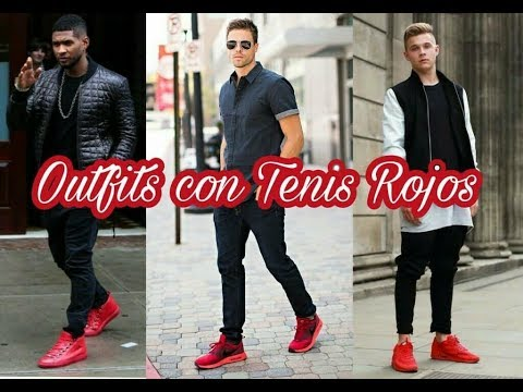 amp; Youtube Moda Rojos Style Tenis Con Outfits qfw41n