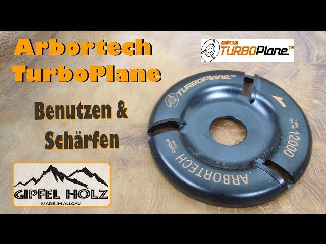 Arbortech Turboplane | Benutzen - Schärfen - Anwenden der Frässcheibe