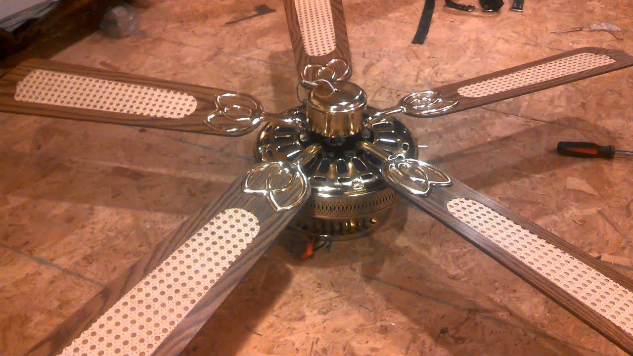 Cec Close Mount Ceiling Fan With Cane Blades Youtube
