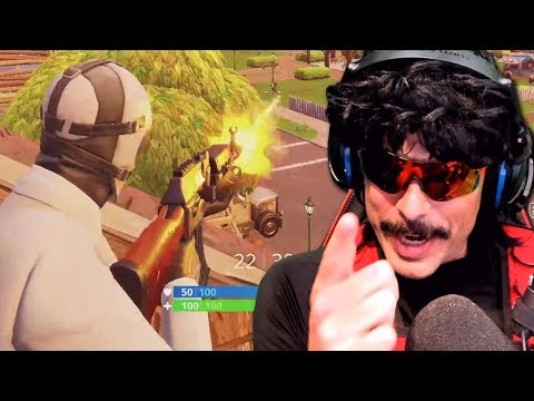 DrDisRespect First Time Using *NEW* Heavy AR (AK-47)+ Wildcard Skin | HighOctane Gameplay (11/17/18)