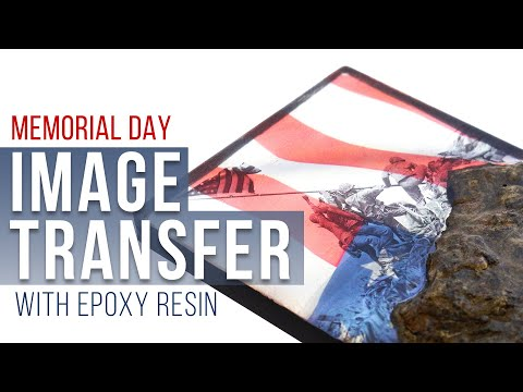 Image Transfer with MAS Epoxies for Memorial Day