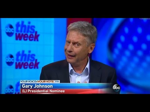Gary Johnson Gets Goofy On Climate Change