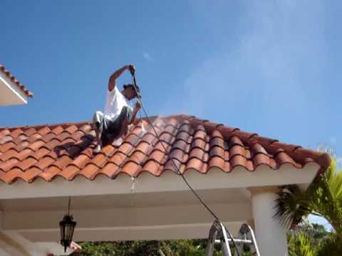 High pressure water cleaning tile roof cleaning dominican republic 829 284 0814 youtube - Using water pressure roof cleaning ...