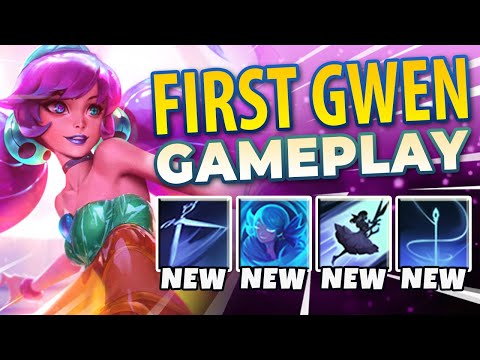 WTF!? NEW CHAMPION GWEN HAS INFINITE DASHES!? | GWEN SUPPORT – League of Legends