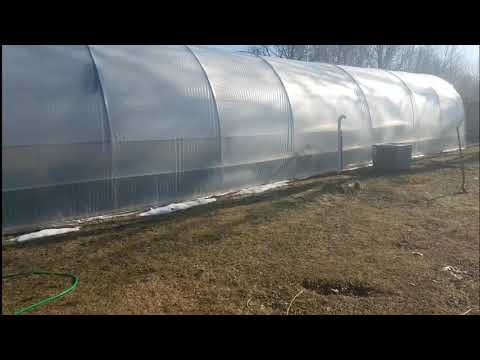Heating & Cooling My High tunnel double poly all-weather Greenhouse
