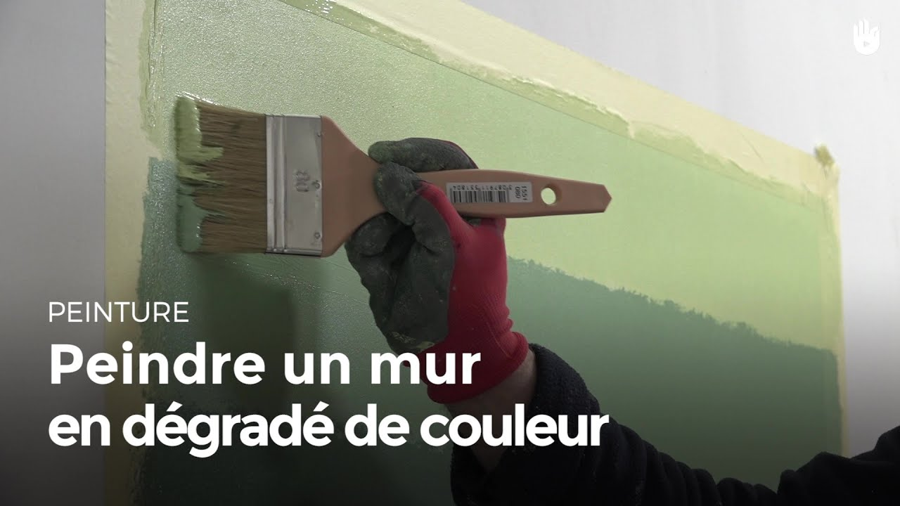 peindre un mur en d grad de couleur bricolage youtube. Black Bedroom Furniture Sets. Home Design Ideas