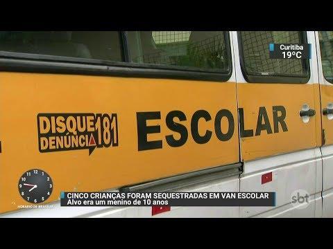 Crianças são sequestradas em van escolar na Grande SP | SBT Brasil (26/10/17)