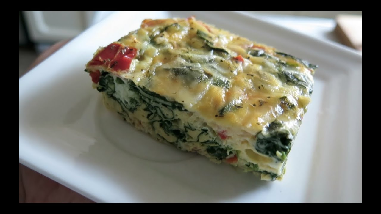 Easy And Healthy Spinach Egg Casserole Youtube