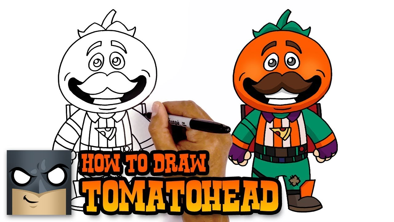 How to Draw Fortnite | Tomatohead - YouTube