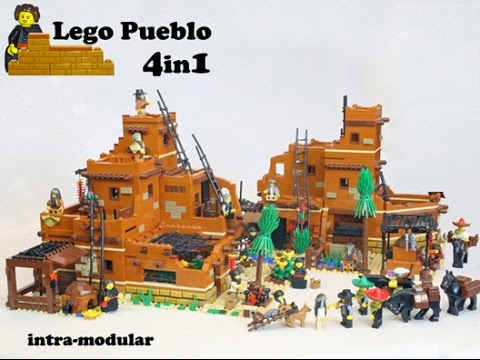 Lego Ideas Lego Pueblo Ii A 4in1 Modular Creator Set Youtube