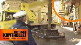 Baustopp! Ordnungsamt erkennt wahnwitzige Baustelle! | Achtung Kontrolle | kabel eins