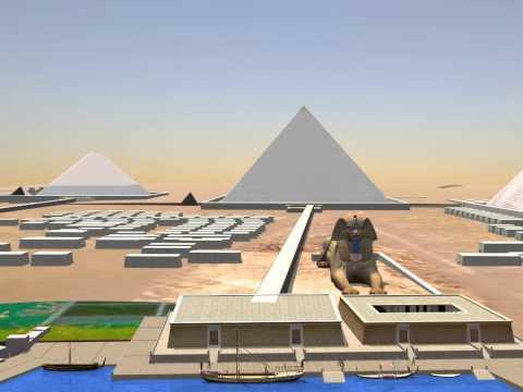Fly Over Giza Pyramids
