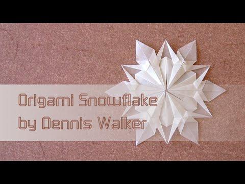 Christmas Origami Instructions Snowflake Dennis Walker Youtube