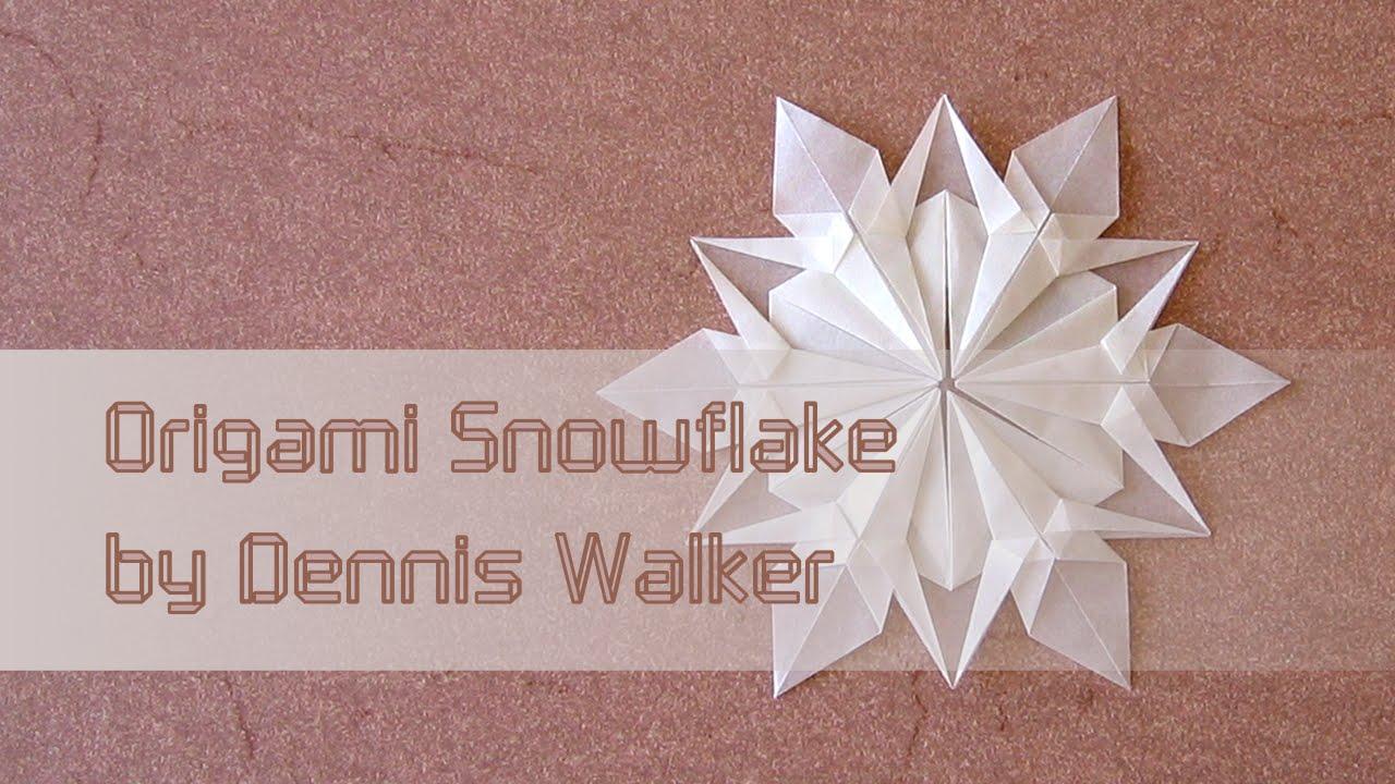 christmas origami diagram voltmeter wiring instructions snowflake dennis walker youtube