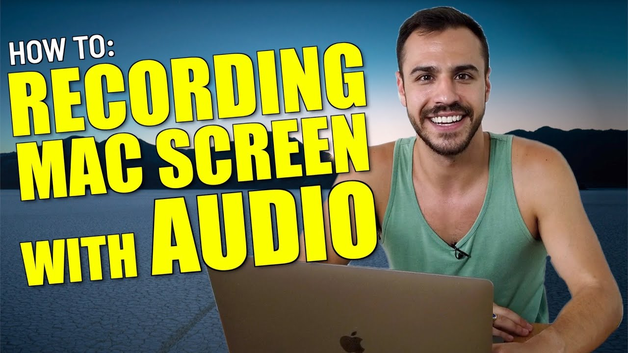 How To Screen Record With Audio On Mac Quicktime Screen Recording Youtube