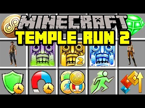 Minecraft TEMPLE RUN 2 MOD! | BUILD PORTAL TO TRAVEL TO TEMPLE RUN DIMENSION! | Modded Mini-Game