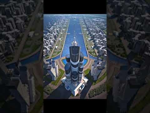 Azerbaijan and Dubai Creek Tower #tallestTower #tallestbuildings