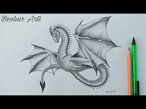 How to draw a dragon | pencil drawing