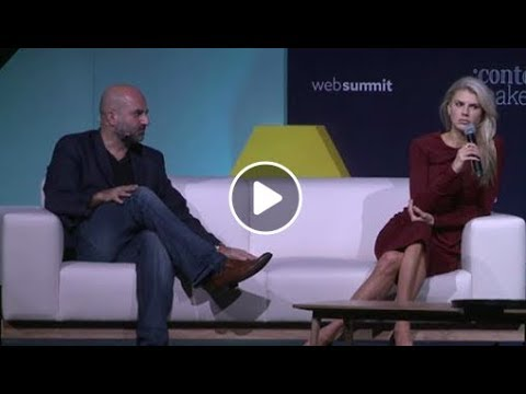 """Ashkan Karbasfrooshan at theWeb Summit in Lisbon 2018: """"Building a Large Audience Online"""""""