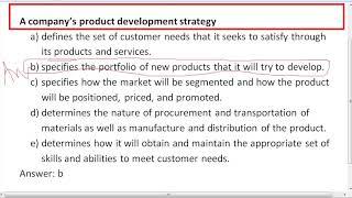 A company's product development strategy