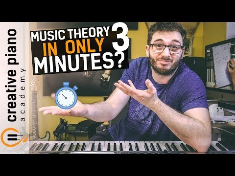 BEGINNER MUSIC THEORY IN 3 MINUTES!