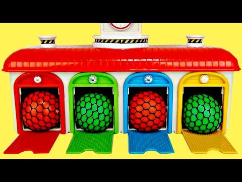 Mesh Stress balls &  Nursery Rhyme Songs Tayo Bus Station