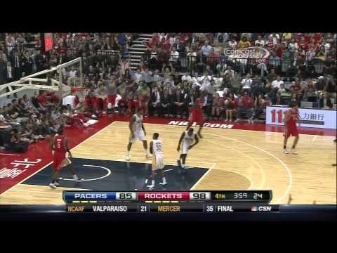 [10.13.13] Francisco Garcia - Fifth Three Pointer vs Pacers (Preseason)