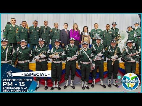 Dra. Maria Luisa recibe reconocimiento de la Policía Militar No. 15 Batallón Cacique Bacatá